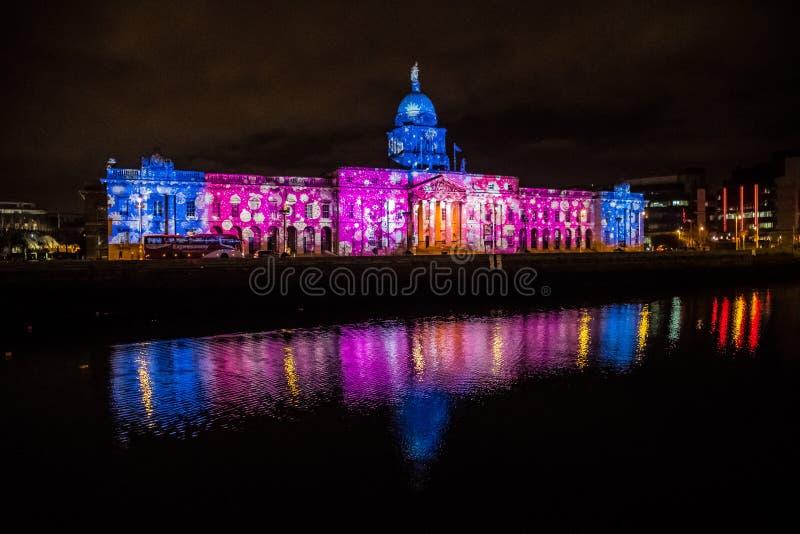 The Custom house Dublin royalty free stock photos
