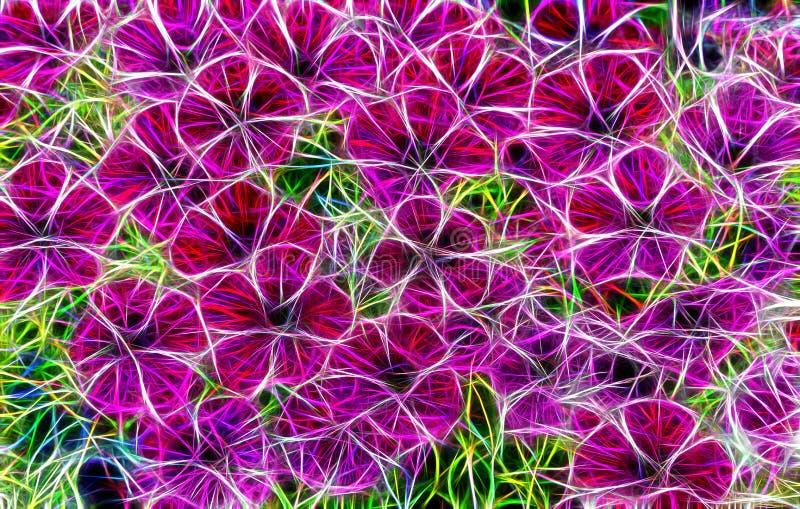 Pictureof abstrato bonito do fractal flores ilustração stock