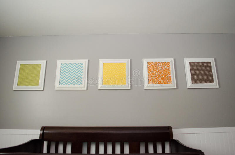 Pictures Above Crib royalty free stock photography