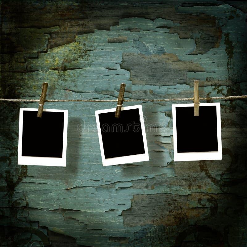 Pictures  against old crackled backdrop