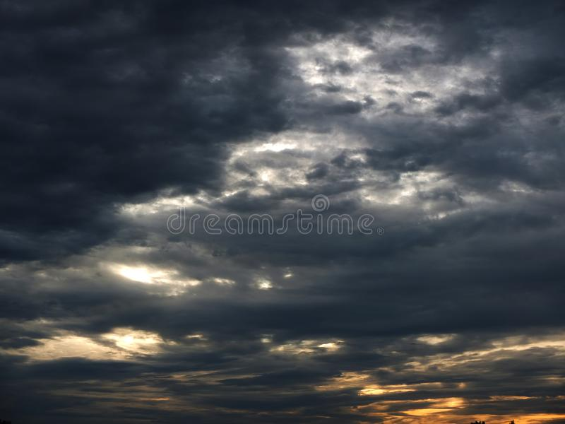Pictures of beautiful cloudy skies stock photos