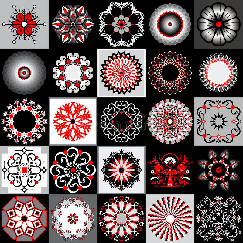 Pictures collection vector illustration
