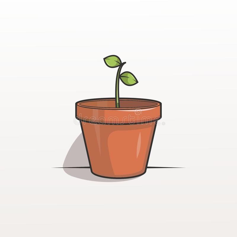 Pictures of cute flower pots for child wallpapers stock photography
