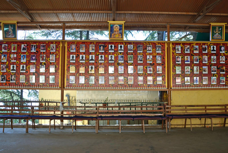 Pictures of deceased Tibetans royalty free stock image