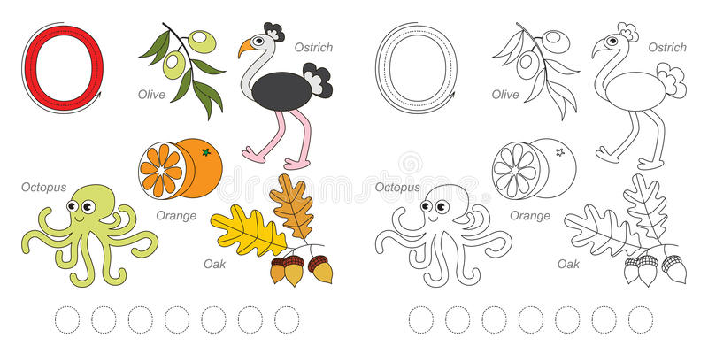 Pictures for letter O royalty free illustration