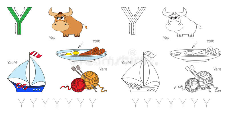 Pictures for letter Y royalty free illustration