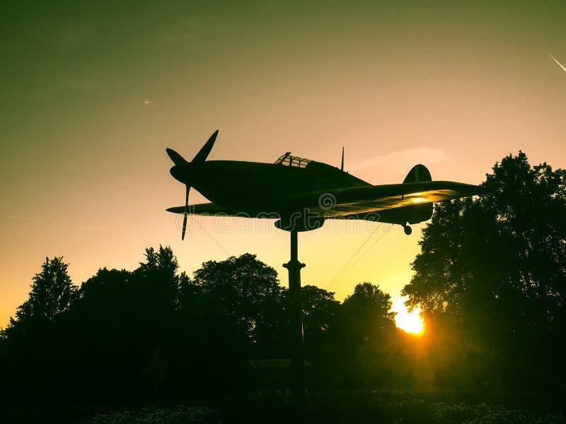 WW2 plane Windsor, England royalty free stock photos