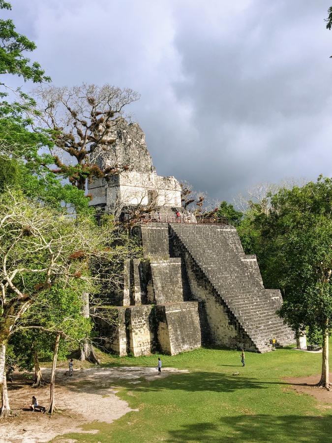 Pictures of the Tikal ruins, ancient Mayan ruins in rainforests of northern Guatemala. royalty free stock photography