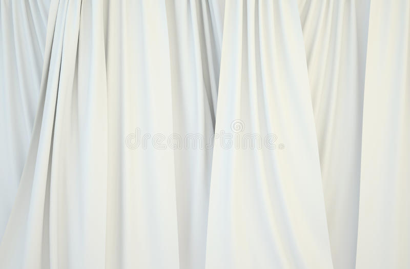 Pictures of white curtains. stock photo