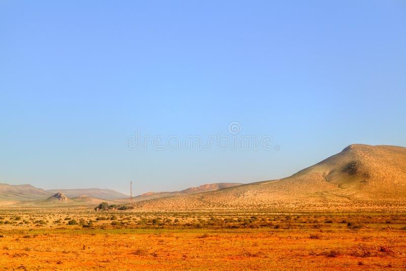 Picturesqelandschap in de woestijn van Marokko stock foto