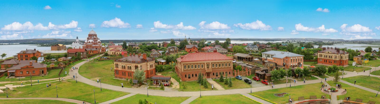 Picturesque aerial view of Sviyazhsk, Tatarstan royalty free stock image