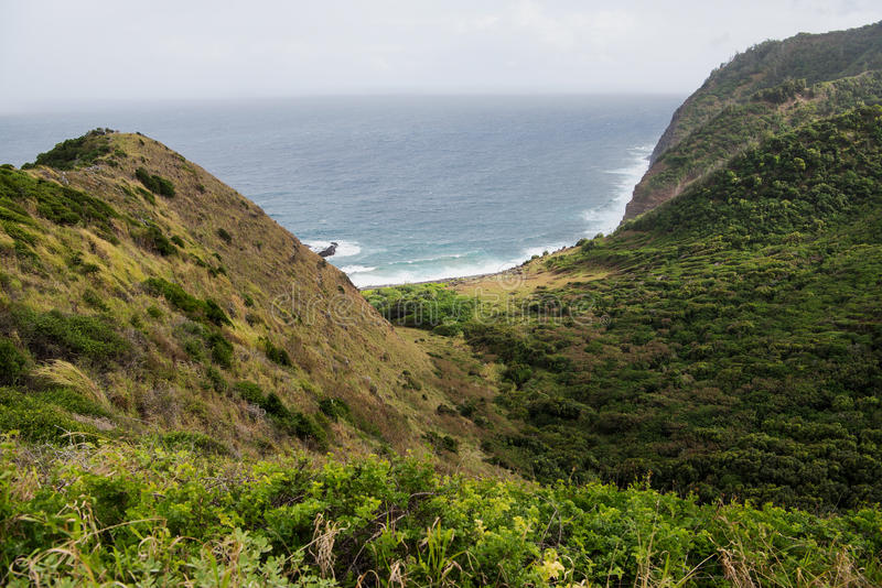 Download Picturesque Bay On Molokai Stock Photo - Image: 83723127