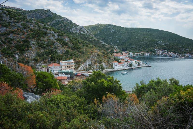 Picturesque beach of Potistika, Pelion, Greece royalty free stock image