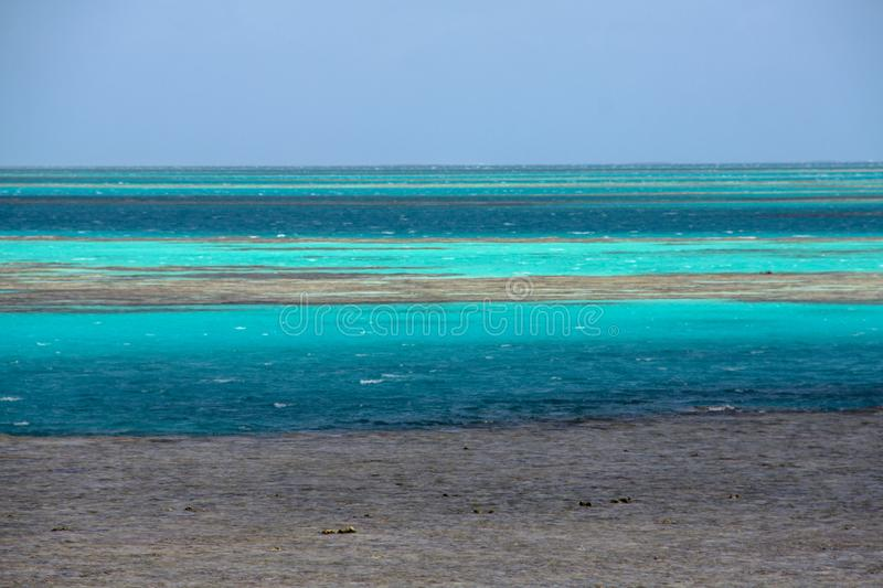 Picturesque blue ocean on Great Barrier Reef stock photo