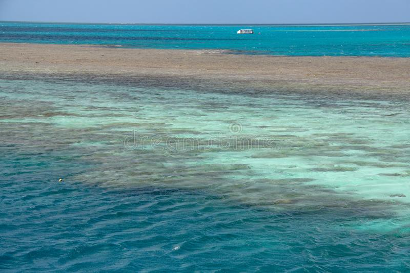 Picturesque blue ocean on Great Barrier Reef royalty free stock image