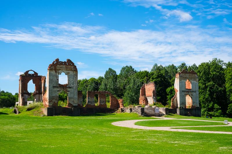 Picturesque castle ruins stock image