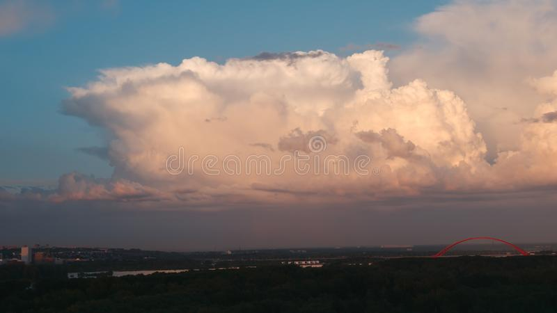 Picturesque cloudscape in the sunset. Big Picturesque cloudscape in sunset stock images