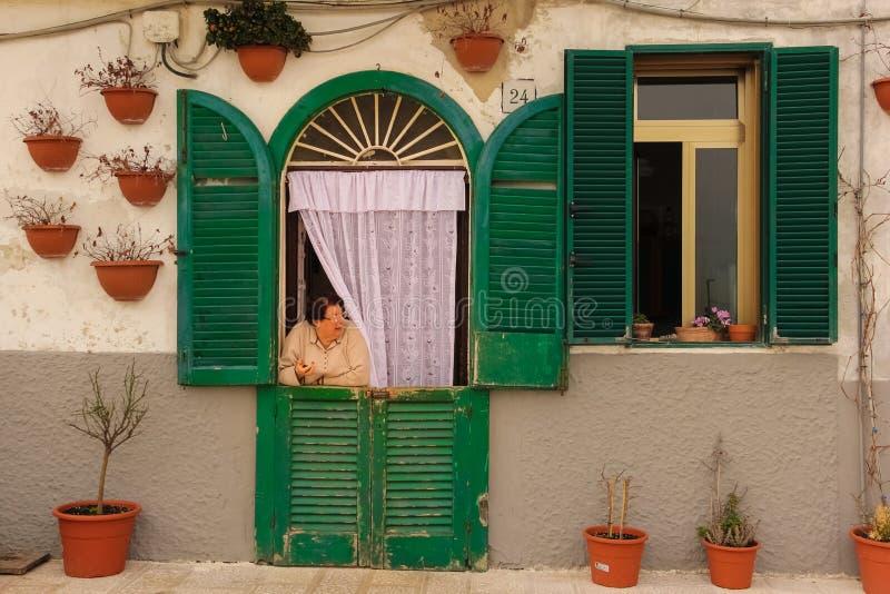 Picturesque corner. Bari. Apulia or Puglia. Italy royalty free stock image