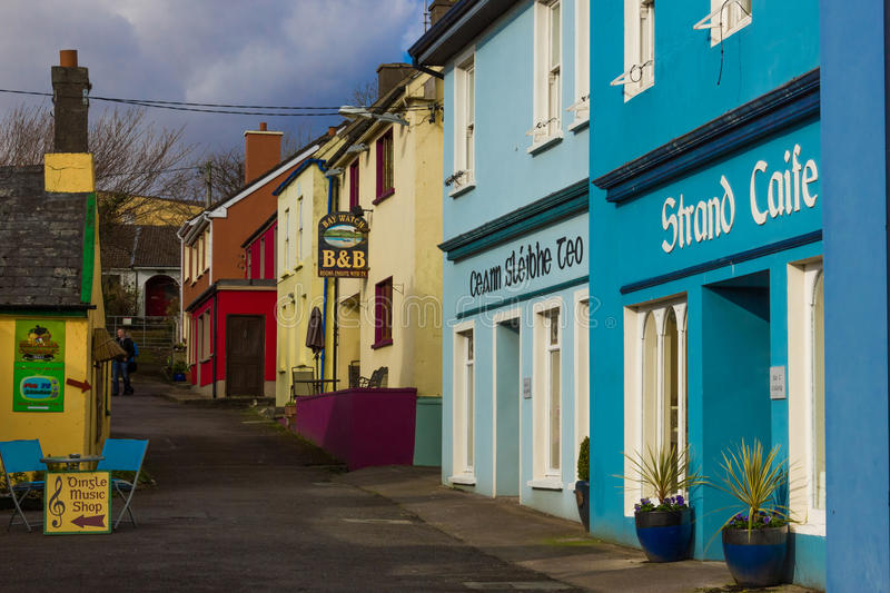 Picturesque corner. Strand street. Dingle. Ireland. Picturesque and colourful Strand street. Dingle. county Kerry. Ireland royalty free stock image