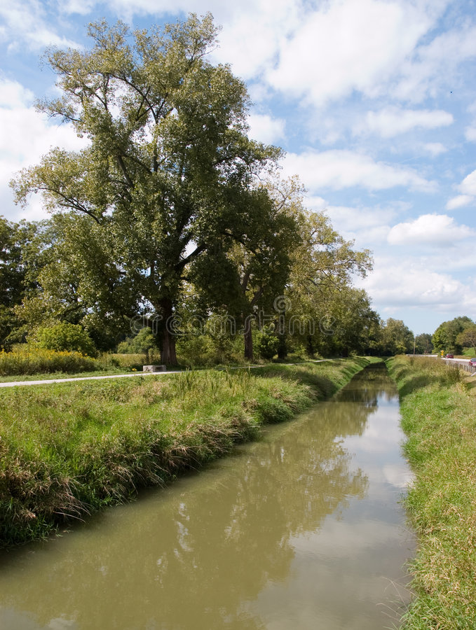Picturesque countryside river stock photography