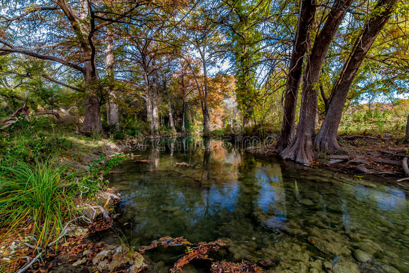 Picturesque Crystal Clear Stream in Texas. royalty free stock image