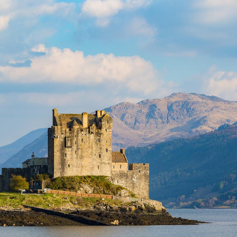 Picturesque Eilean Donan Castle in the Scottish Highlands royalty free stock photo