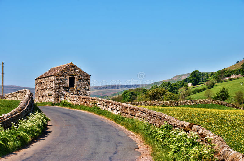 Picturesque English Country Road Royalty Free Stock Image