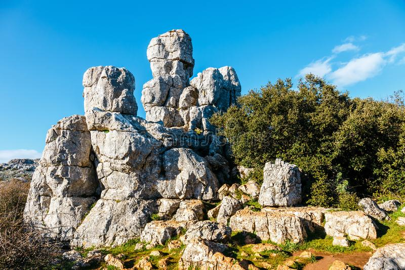 Picturesque examples of karst landscape, Spain royalty free stock images