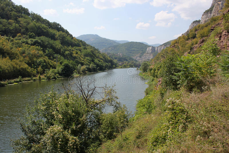 The gorge of the river Iskar stock photography