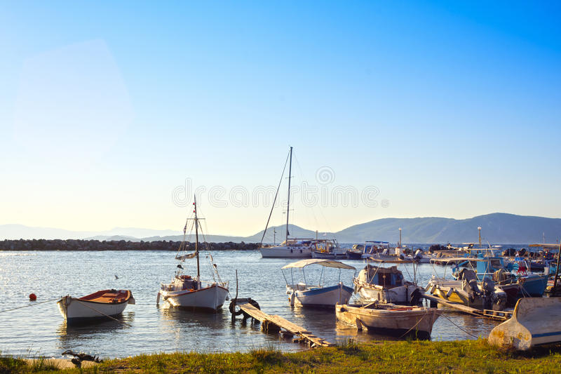 Picturesque harbor royalty free stock photo