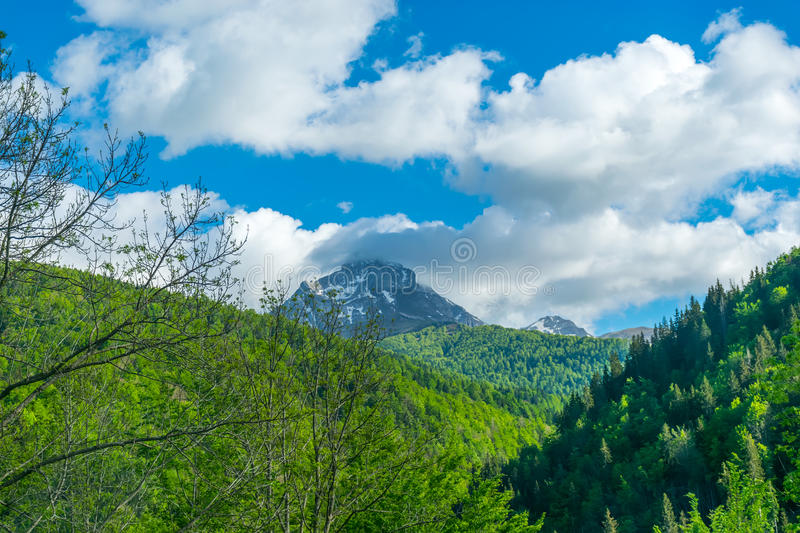 Picturesque Komovi Mountains royalty free stock images