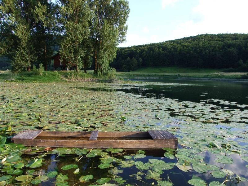 A picturesque lake and pond royalty free stock image