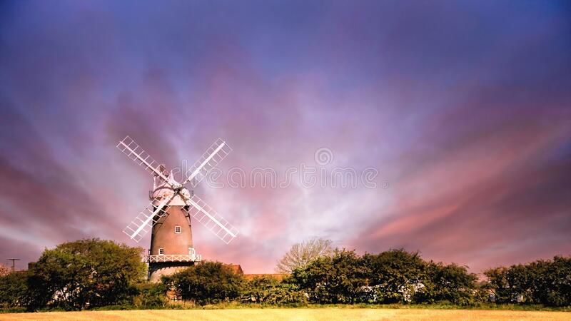 Windmill in Norfolk. royalty free stock photo