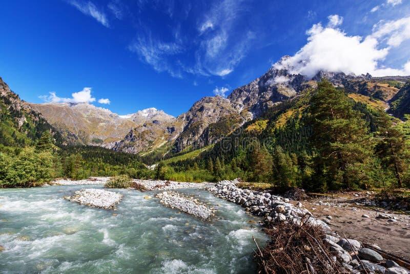 Picturesque landscape of Caucasus mountains in Georgia stock image