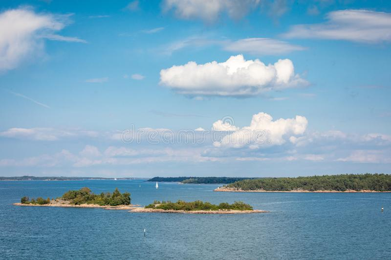 Picturesque landscape with island. at Baltic Sea. Aland Islands, Finland. Europe.  royalty free stock photography