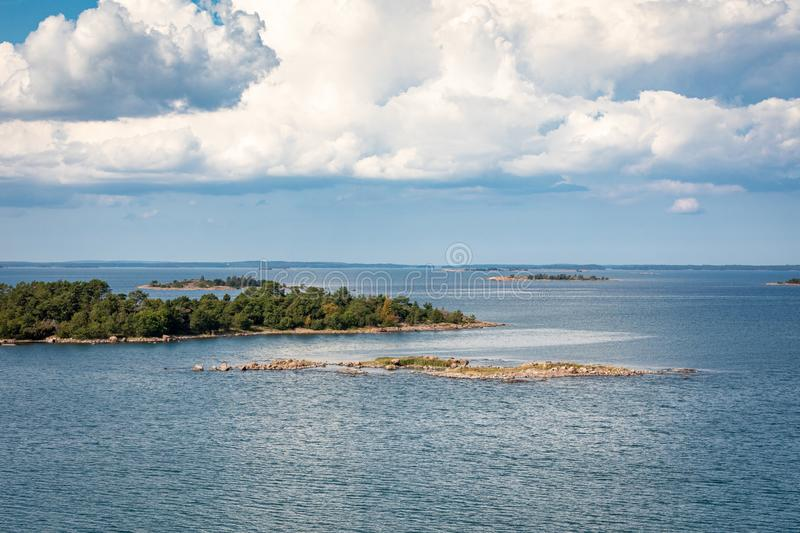 Picturesque landscape with island. at Baltic Sea. Aland Islands, Finland. Europe.  royalty free stock image