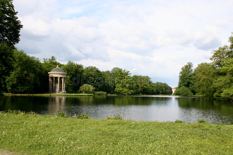 Picturesque landscape in park royalty free stock image