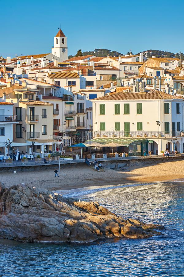 Picturesque landscape from a small Spanish village in Costa Brava coastal, Calella de Palafrugell. 04.08.2019 Spain stock images