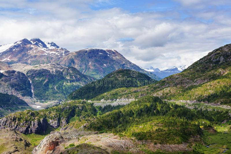 Mountains in Canada. Picturesque mountain view in the Canadian Rockies in summer season stock images