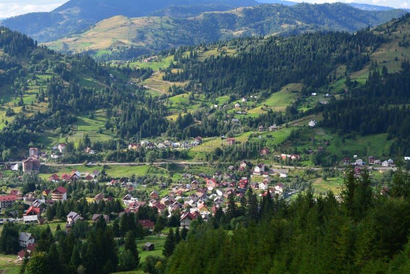Picturesque mountain village royalty free stock photos