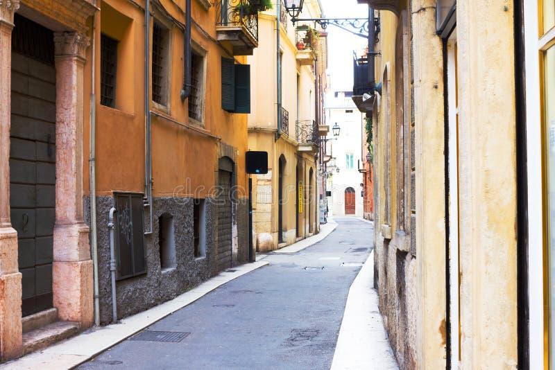 Street in Verona, Italy. stock photo