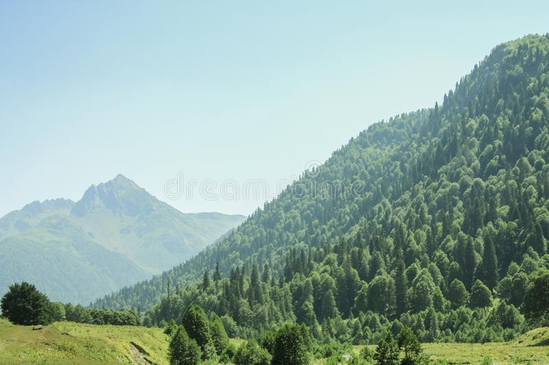 Picturesque natural landscape on mountains. royalty free stock photo