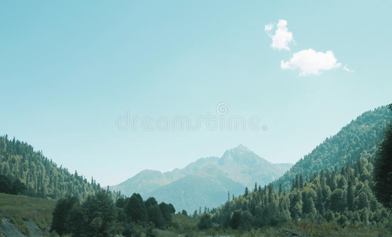 Picturesque natural landscape on mountains. stock photos