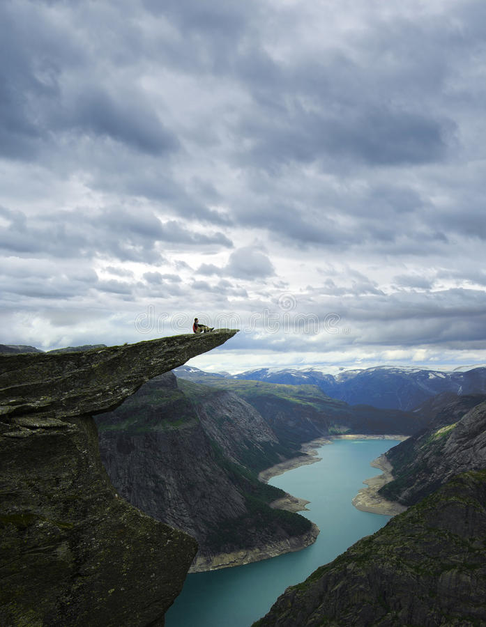 Picturesque Norway landscape.Trolltunga royalty free stock image