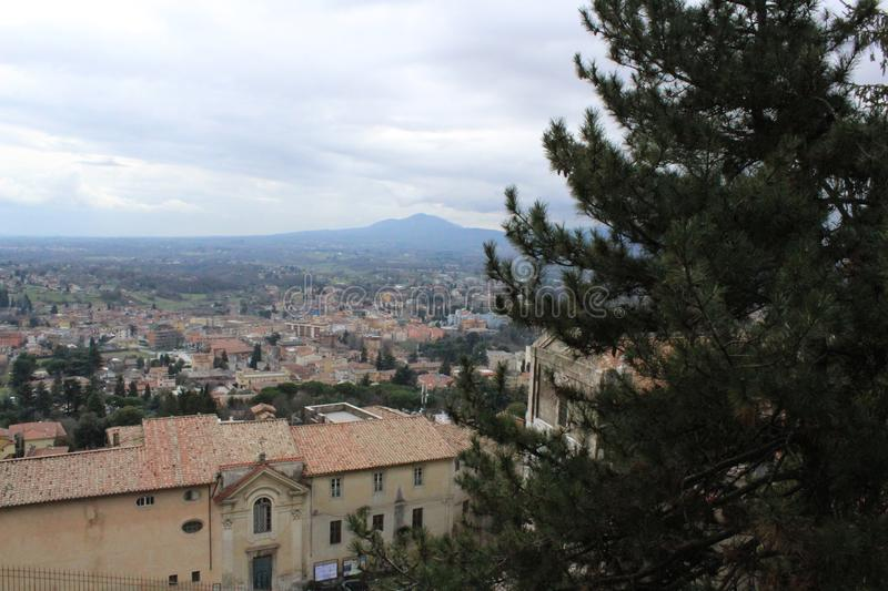 Picturesque panorama of the Palestrina lazio italy royalty free stock photo