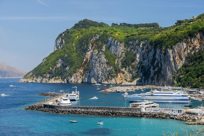 Picturesque places on Capri stock images