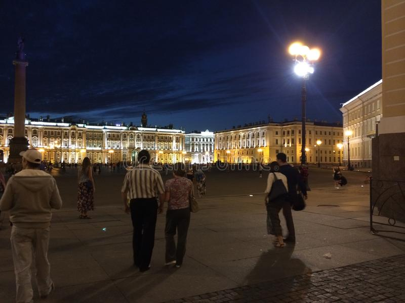 Picturesque places of St. Petersburg. Palace Square. Winter Palace royalty free stock photography