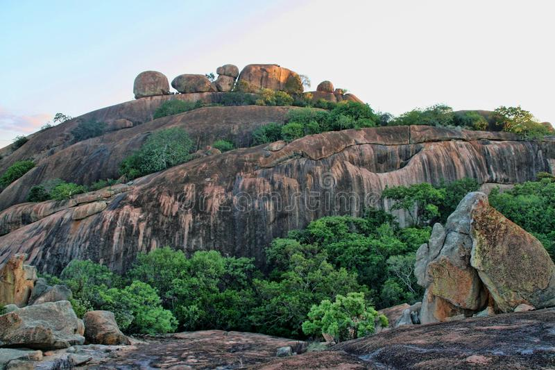 Picturesque rock formations of the Matopos National Park, Zimbabwe stock photography