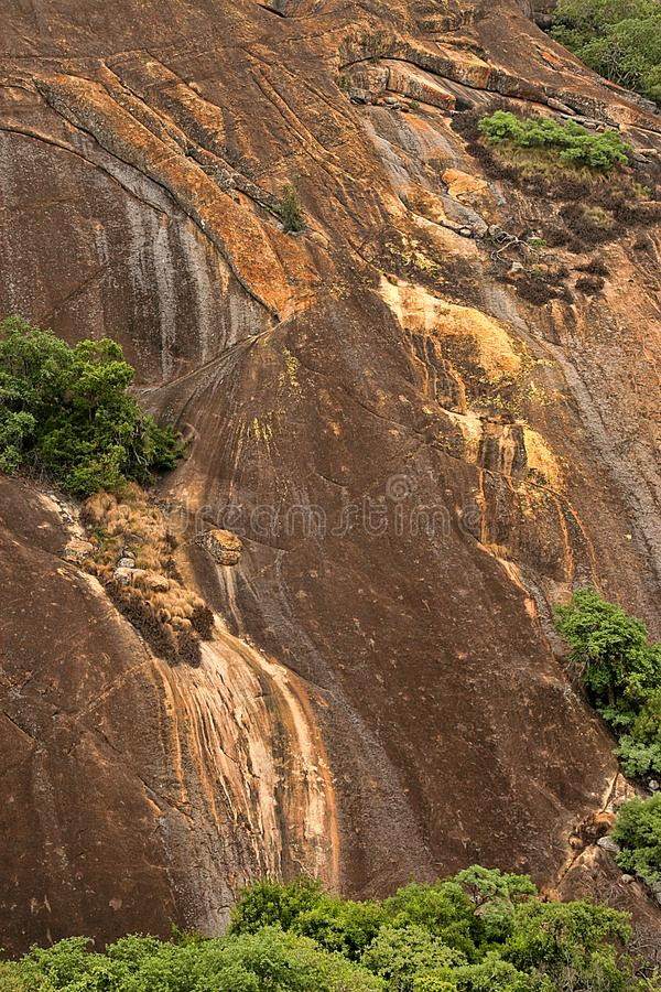 Picturesque rock formations of the Matopos National Park, Zimbabwe stock image