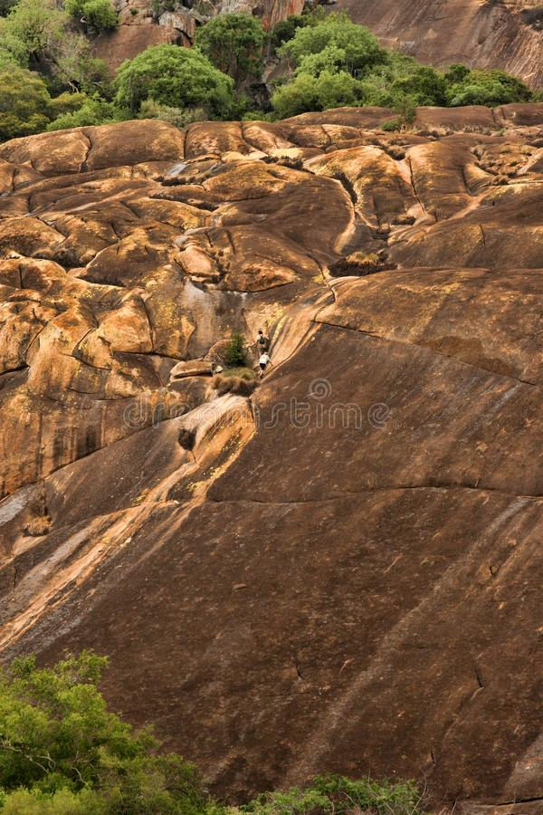 Picturesque rock formations of the Matopos National Park, Zimbabwe royalty free stock image